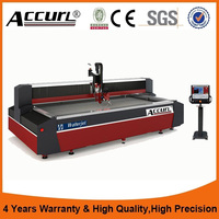 ACCURL Cnc Gantry Type Water Jet Machine 5 Axis For Large Procelain Tiles And Aluminum