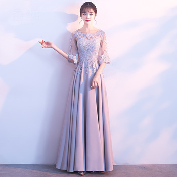 Long Lace Qipao Oriental Style Dresses Chinese Bride Vintage Traditional Wedding Cheongsam Evening Party Dress Plus Size XS-XXXL