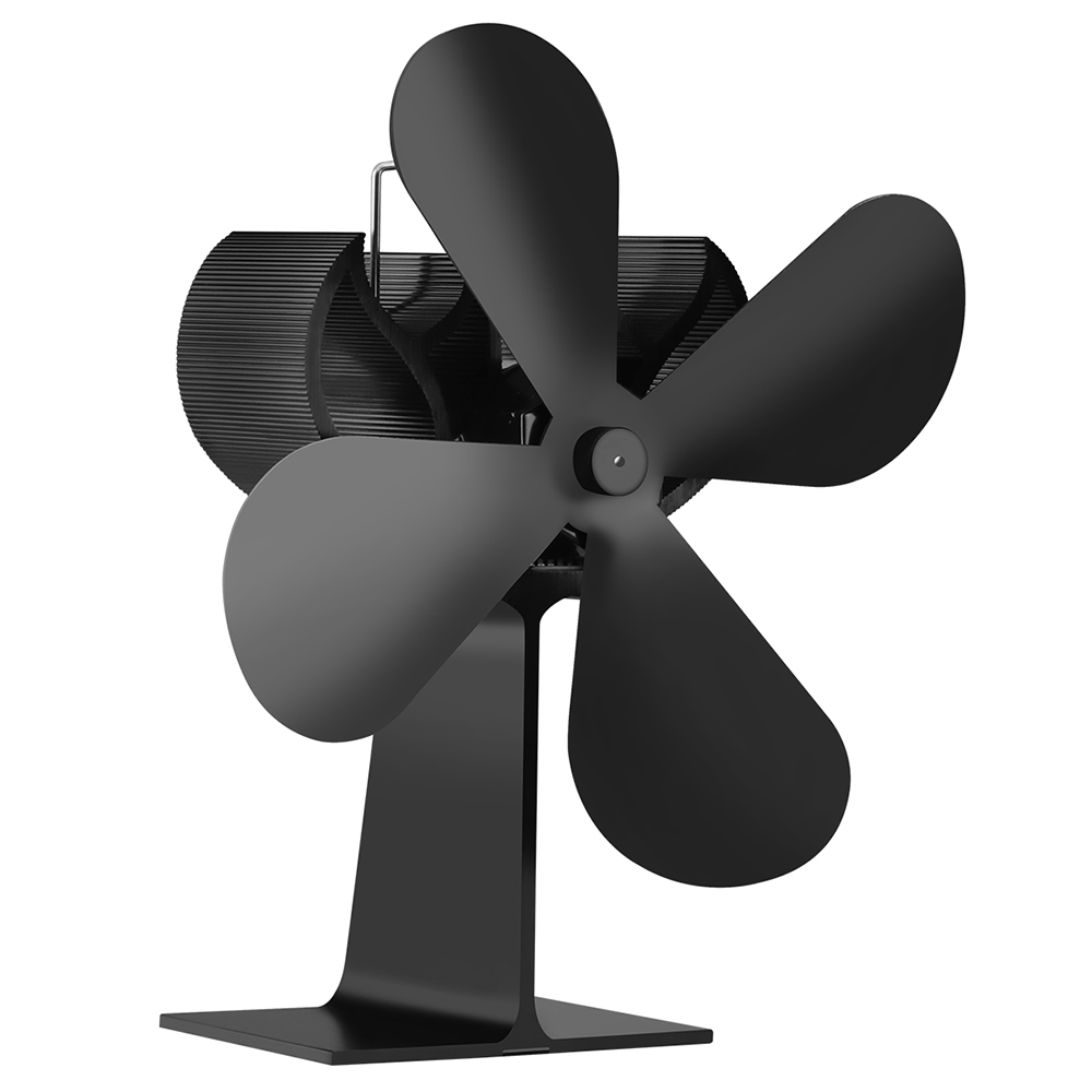 Stove-Fan Fireplace-Fan 4-Blade No-Electronic-Needed For Efficient Heat-Distribution