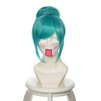 ccutoo Atsune Miku Project Diva Blue Short Styled Synthetic Hair Cosplay Wig Heat Resistance Fiber