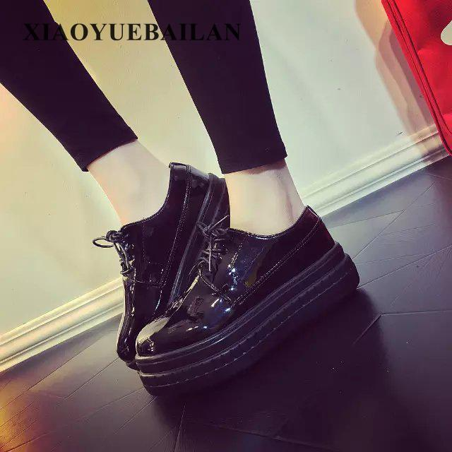 2017 Female Students Of All-match Increased In Spring And Summer Shoes Leisure Black Color Thick Soled Wet Sponge dreambox summer leisure trends in europe and america mesh breathable shoes set foot thick soled shoes