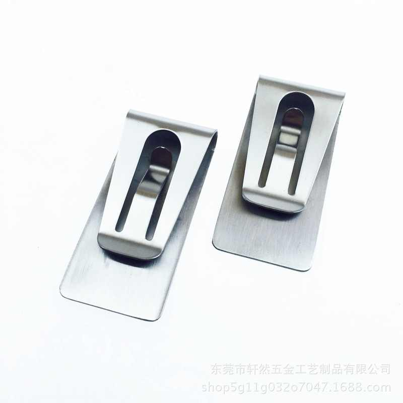 Stainless Steel Slim Money Wallet Clip Clamp Card Bank Credit Business Card Holder Paper Clip