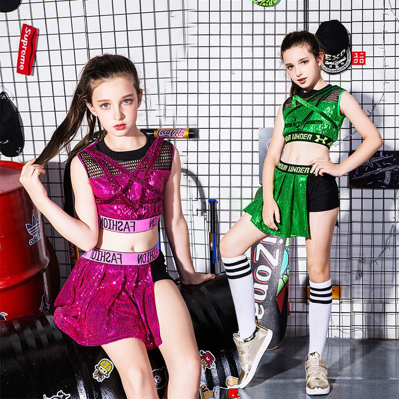 High Quality New Clothes Female Children Ds Jazz Dance Costume Hip Hop Modern Hip-hop Student Performance Clothing Korean