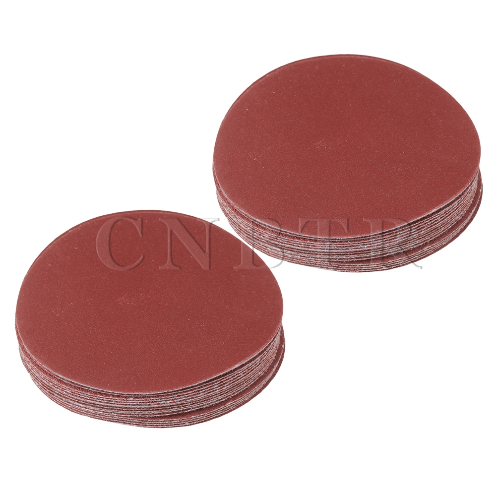 CNBTR 40x Brown 115mm Dia Aluminium Oxide Abrasive 60/80/120/180 Grit Round Sandpaper
