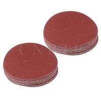 CNBTR 40x Brown 115mm Dia Aluminium Oxide Abrasive 60 80 120 180 Grit Round Sandpaper