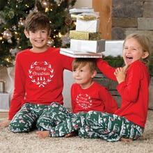 Christmas Family Matching Sleepwear Parents Kids Dad Mom Child Pyjamas Sets