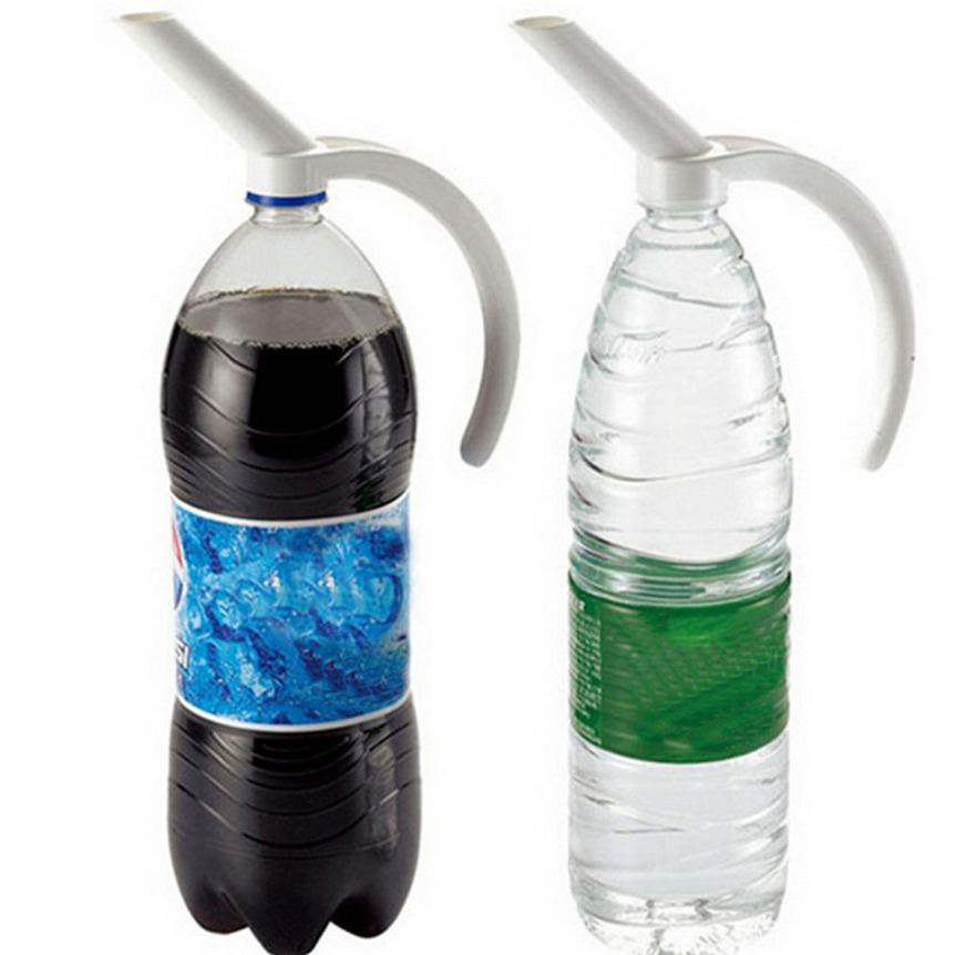 Lovely Pet Home Plastic Bottled Beverage Handle Soda Coke Drinkeware Water Spout Bottle Specialty Tool Drop Shipping 0613
