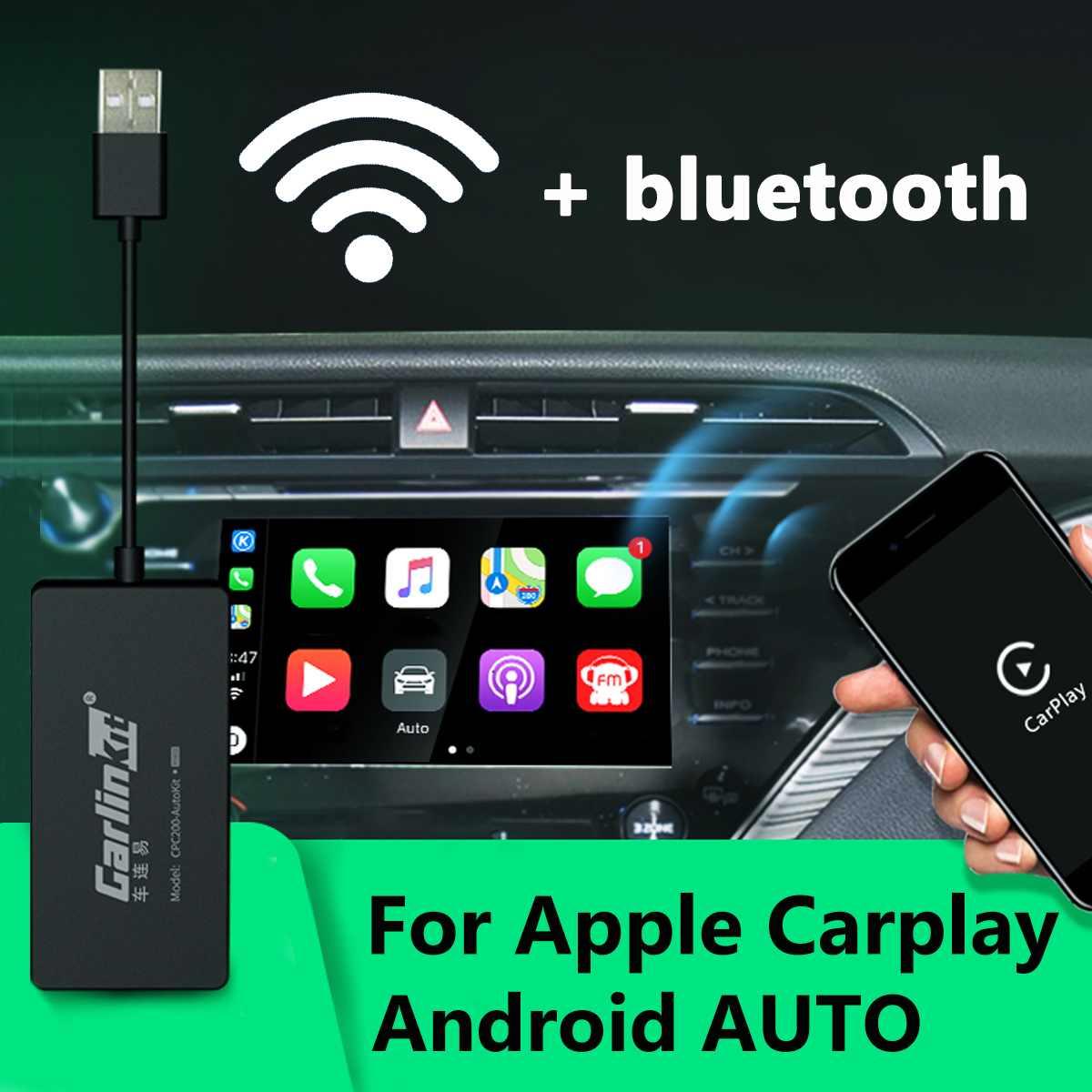CarPlay sans fil Smart Link Carlinkit USB pour Apple CarPlay Dongle pour Android Navigation système de lecteur bâton avec Android Auto