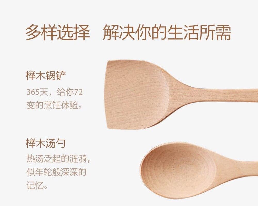 longa antiaderente pan pá de madeira colher de sopa
