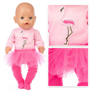 Tutu-Dress Doll Born Pink Girls Bebe Babies Princess 18inch 43cm Cloth