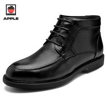APPLE Men and Women Boots winter men shoes genuine leather warm Waterproof fashion australian boots