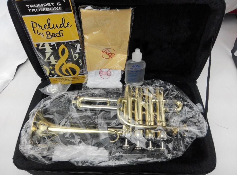 2017 new  Soprano trumpet instrument B flat trumpet four key Top Soprano trumpet instrument Performance promotion free shipping 2017 new us baja trumpet instrument lt190s 99 down b tune instrument
