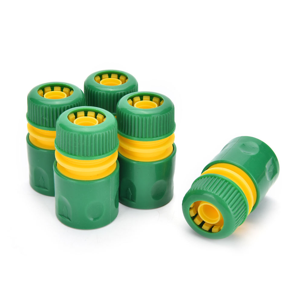 New 34mm 12 Hose Pipe Fitting Set Quick Yellow Water Connector Adaptor Garden Lawn Tap Water Pipe Connector