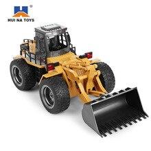 HuiNa1520 RC Car 6CH 1/18 Trucks Metal Bulldozer Charging RTR Remote Control Truck Constru
