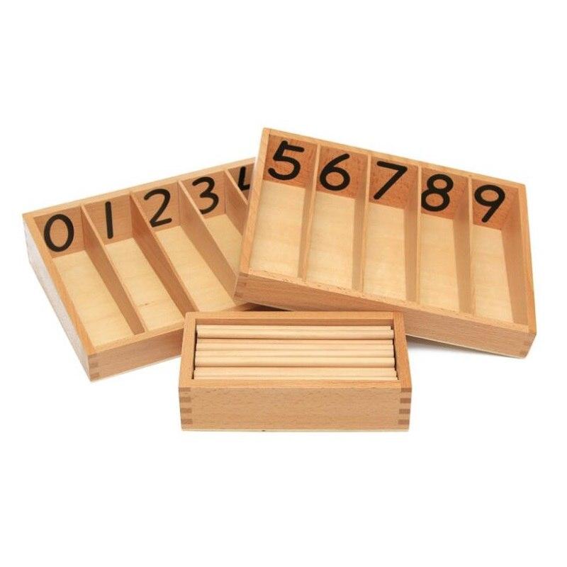 Montessori mathématiques outil d'enseignement boîte de broche Mengtai Montessori jouets pour enfants cadeaux d'anniversaire