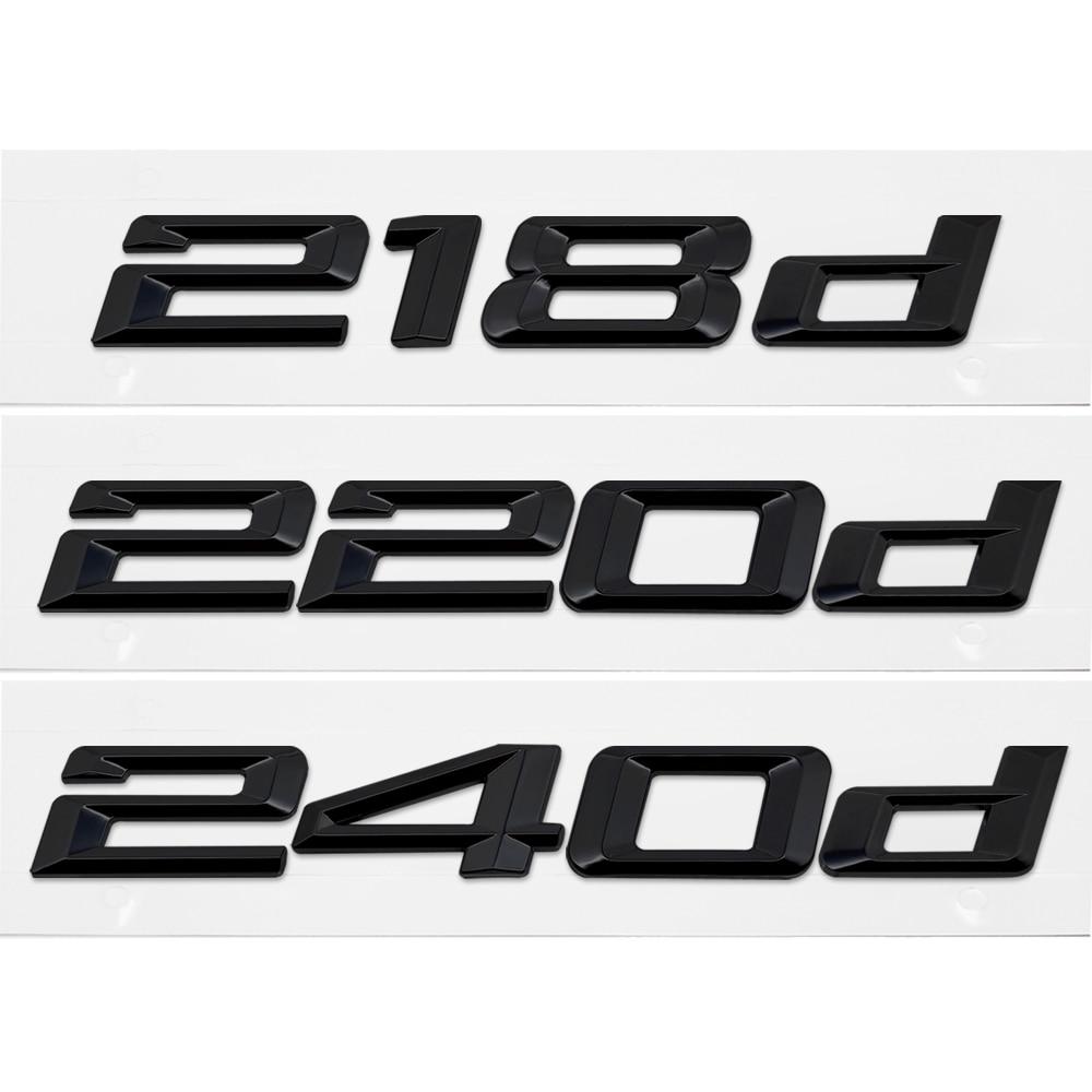 Chrome BMW 2 series F22 F45 225d Boot Trunk Lid Emblem Badge Letter