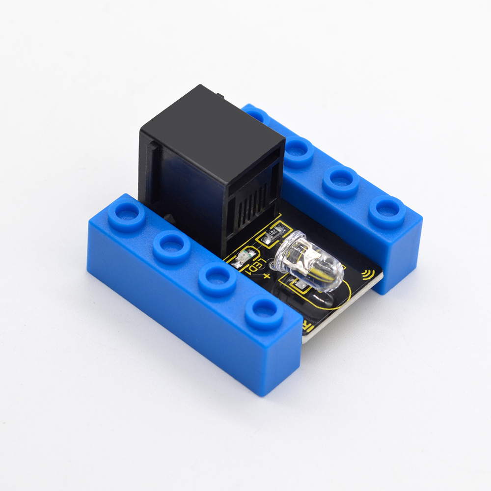 Kidsbits Blocks Coding IR Transmitter Module For Arduino STEAM EDU (Black And Eco Friendly)