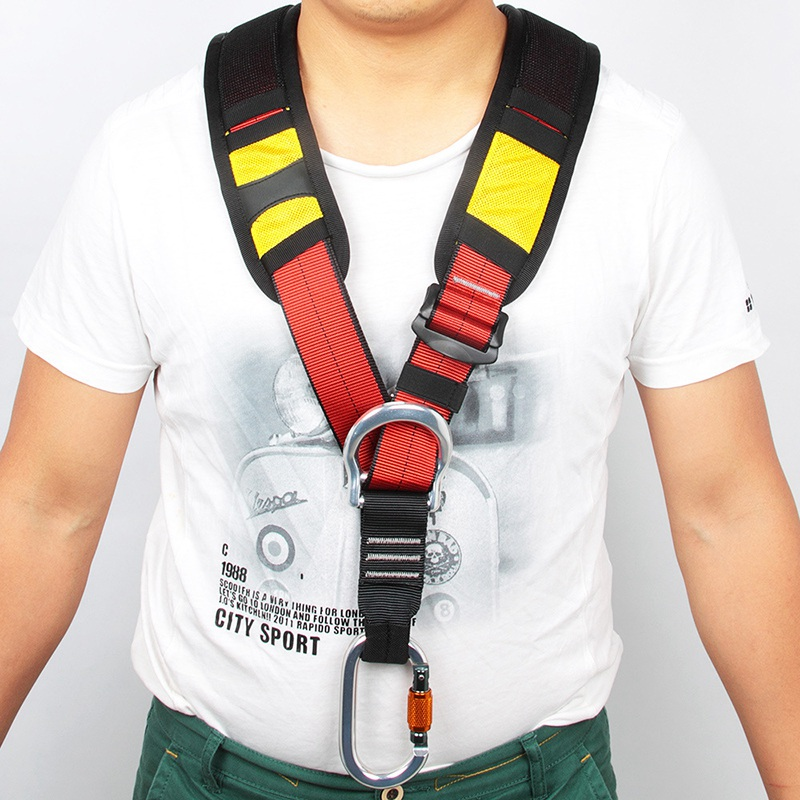 Top Selling Adults Body Harness Chest Strap Safety Climbing Belt Outdoor Rappelling Mountaineering Tool with Storage Bag hot sale safety body harness outdoor mountaineering rock climbing harness protect waist seat belt outside multi tools