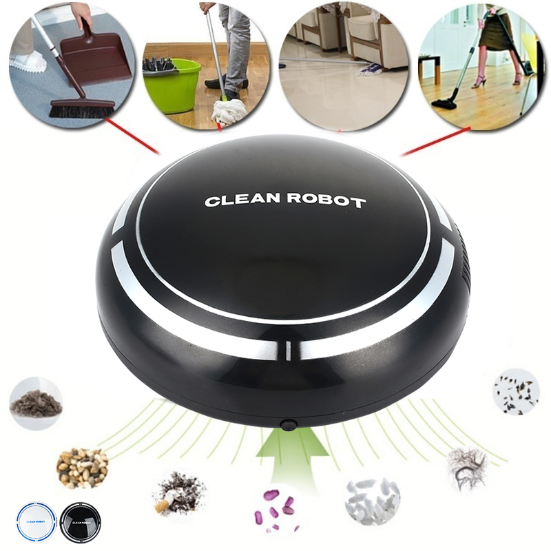 Smart Vacuum Cleaner Auto Sweeping Robot Cleaning Household Electric Cleaners Premium with Batteries