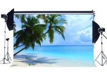 Fondo de playa de arena de playa palma de coco azul cielo blanco nube naturaleza romántico verano Fondo amante boda