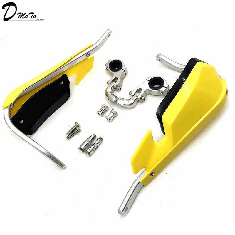 """Branco 1-1/8 """"Dirt Bike MX Guiador Handguards Mão Guardas Para DRZ CRF XR WR 28.6 milímetros Escova bar Armadura Motocicleta Handguards"""