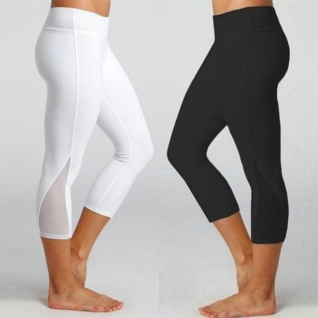 86bfa1c12d99c Women's Leggings Fitness Sports Gym Running Slim Tight Yoga Athletic Pants  Calf-Length Pants Fashion
