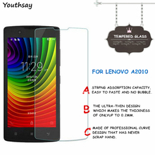 2pcs Screen Protector For Lenovo A2010 Tempered Glass For Lenovo A2010 A2010A Thin HD Toughened Protective Film + Cleaning Kit стоимость