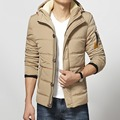 2016 winter new men's coat jacket Slim Korean men's casual warm hooded padded jacket youth
