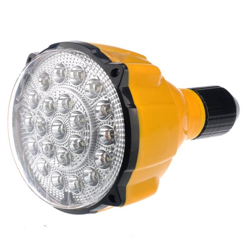 E27 60W 22-LED Multifunctional Energy-saving Light Flashlight Lamp with Remote Control (Yellow)