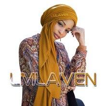 Однотонные ребристые хиджаб из Джерси шаль морщин хлопок шарф мусульманские шарфы высокое качество длинные шарфы простые тюрбан 180*85 см