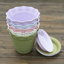 Roman Style Flower Pots (Diameter 140mm x 125mm Height) * Plant Pots * Plastic Pots * Garden Bonsai
