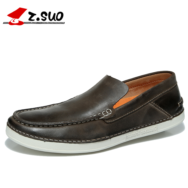 Z.suo Men Casual Shoes 2016 New Fashion Slip-On Loafers Shoes Korean Tide Spring Autumn Male Flats Shoes Size 39-44