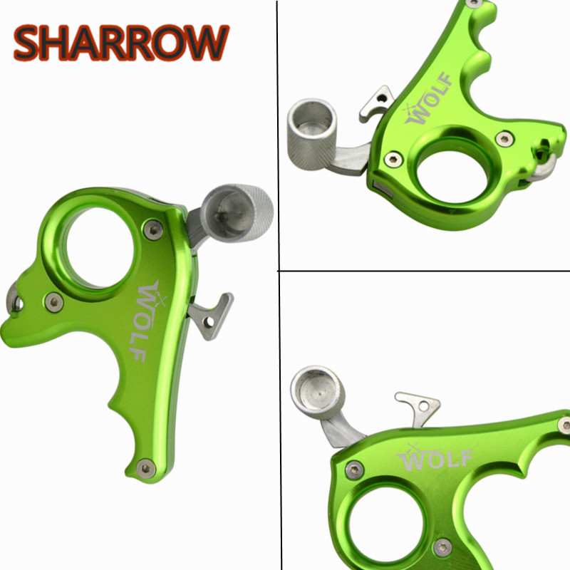 1pc 3 Fingers Grip Caliper Archery Release Aids Compound Bow Release Trigger Aids Gear For Outdoor