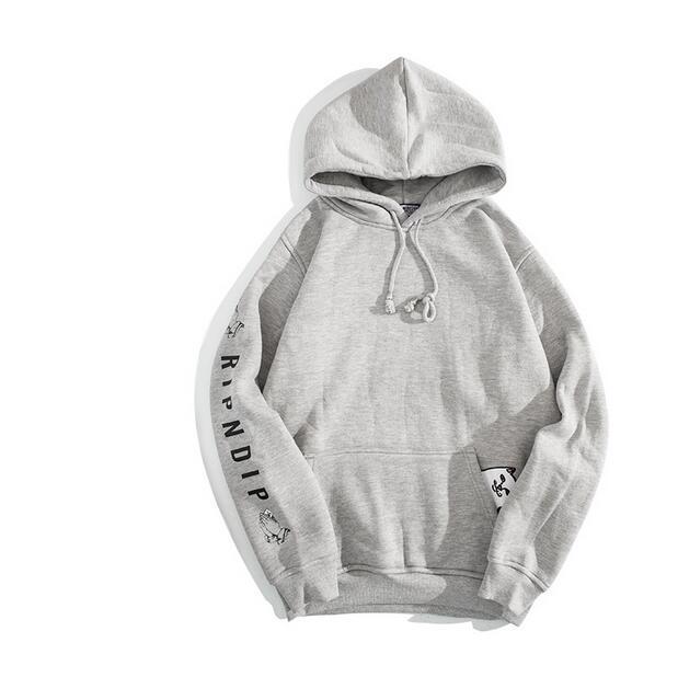 Esponja RIPNDIP camundongos inverno quente hoodie dos homens hip hop moletom com capuz bolso camisola gato hoodies roupas homens