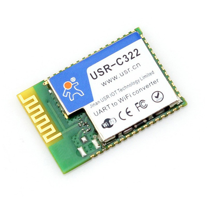 USR-C322 Industrial Low Power Serial UART to Wifi 802.11b/g/n Module Wireless Transparent Transmission with TI CC3200 Chip Q010 nrf24le1 wireless data transmission modules with wireless serial interface module dedicated test plate