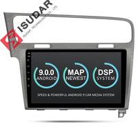 Isudar Car Multimedia Player 1 Din DVD Automotivo Android 9 For VW/Volkswagen/Golf 7 GPS Quad Core RAM 2GB ROM 16GB Radio FM