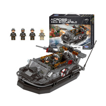 лучшая цена Xingbao Military war Assault boat model building blocks combat ship figure bricks Compatible With  toys children gift