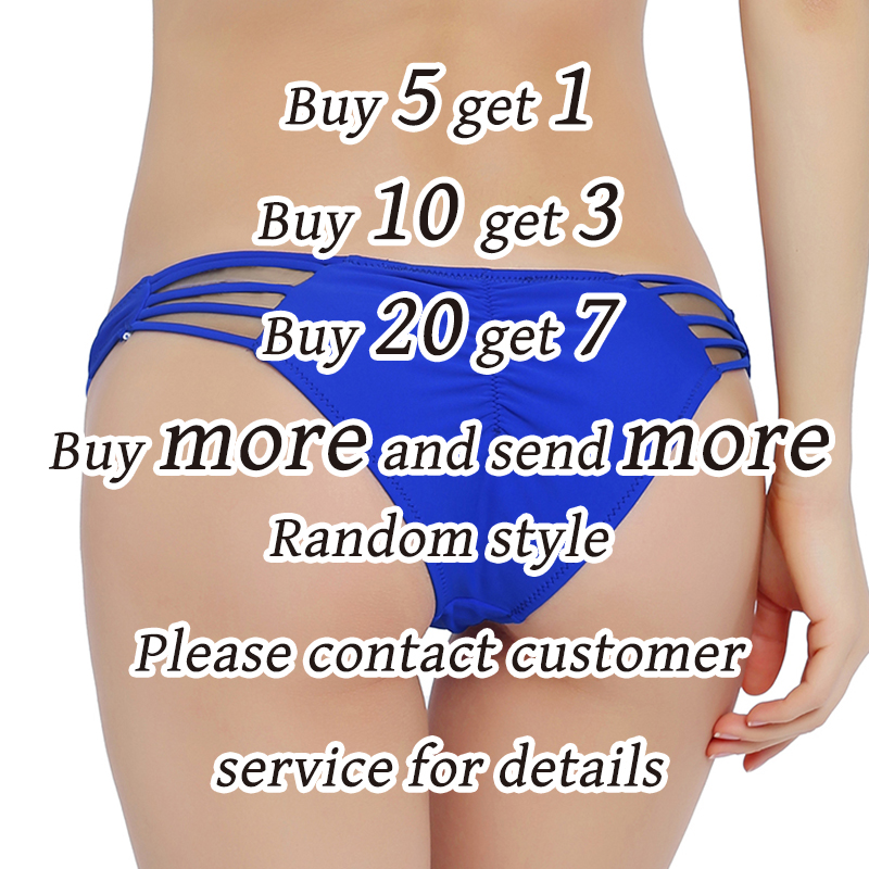 ff8a3485a6fc3 Sexy Solid Bikini Bottom Women Scrunch Tie Side Swimsuit Cheeky Swimwear  Micro Bodysuit Mini Brazilian Thong Briefs Panty Bikini-in Two-Piece  Separates from ...