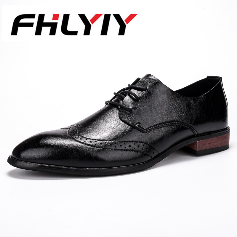 Men Genuine Leather Shoes Brand Hight Increasing Pointed Toe Elegant Male Footwear Dress Formal Oxford Casual Shoes Men Flat hot sale mens genuine leather cow lace up male formal shoes dress shoes pointed toe footwear multi color plus size 37 44 yellow