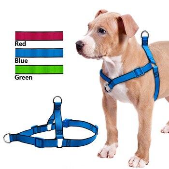 לא למשוך שלב מתכוונן אורך בהליכה רתמות מחמד לרתום כלב לכלבים בינוניים גדולים Pitbulls
