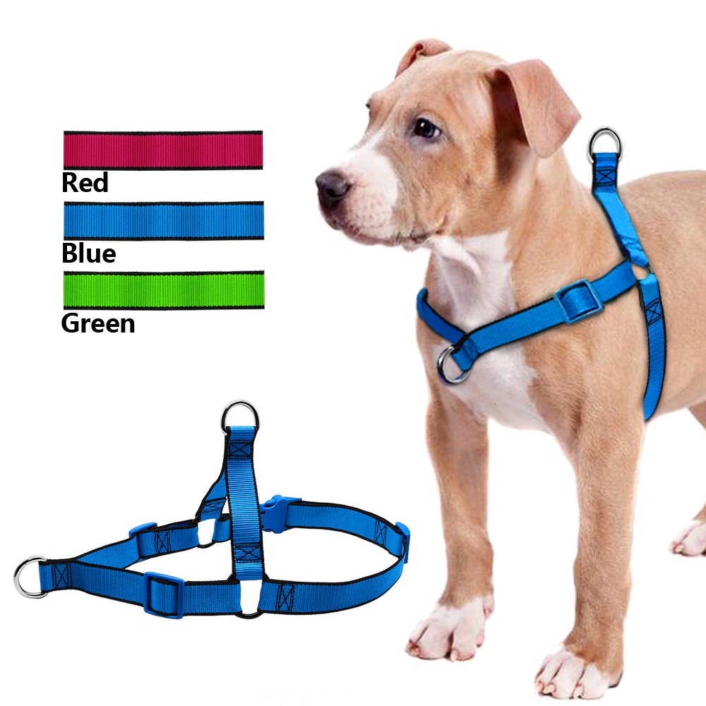 No Pull Dog Harness Längd Justerbart steg i Walking Pet Harnesses för Medium Large Dogs Pitbulls