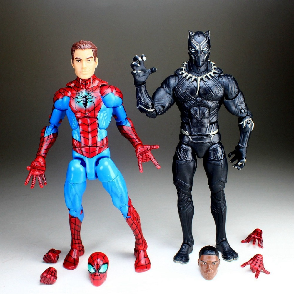 Marvel Legends Unmasked Homecoming Spiderman PETER PARKER Black Panther 6 Loose Figure TOY FREE SHIPPING