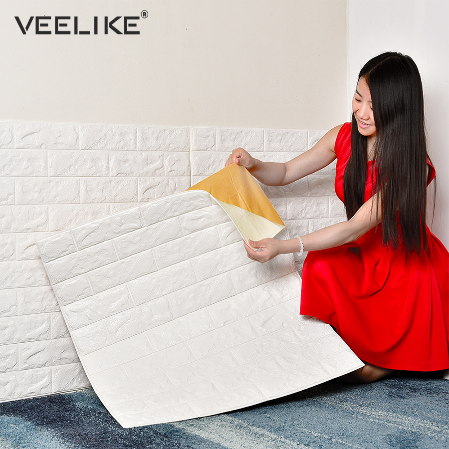 Aliexpress.com : Buy DIY Self Adhesive 3D Brick Wallpaper