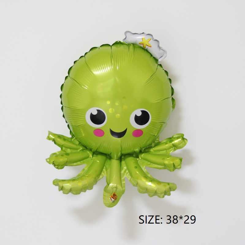Pesce Cavalluccio Marino Octopus aerostati della stagnola festa di compleanno cena decorazione oceano animale sfera di aria di festa giocattolo per bambini giornata dei bambini mini
