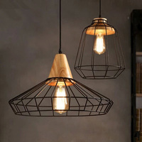 The Wooden Bar Hanging Lamp IKEA Restaurant Bedroom Study Simple Iron Store Promotion Special Offer