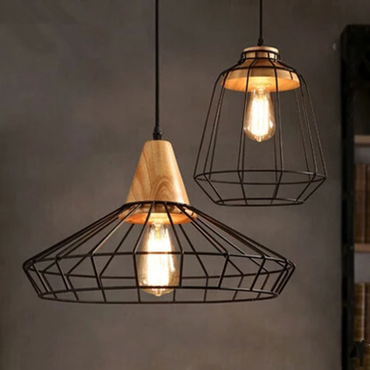 Nordic Home Dining Room Pendant Lamps Modern Restaurant Coffee Bedroom Pendant Lights Iron Real Wood Material AC110V/220V E27 loft dining room pendant lamps modern restaurant ceiling lamp coffee bedroom living room pendant lights e27 led home decor