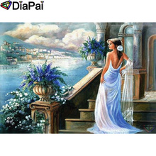 DIAPAI 100% Full Square/Round Drill 5D DIY Diamond Painting Beauty oil paintingDiamond Embroidery Cross Stitch 3D Decor A21088 diapai 100% full square round drill 5d diy diamond painting couple oil paintingdiamond embroidery cross stitch 3d decor a19636