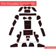 Для hyundai Tucson 2016 2018 2017 3Th Gen автомобиль чашки Нескользящие двери слот коврик для автомобиля Стайлинг интерьера украшения автомобиля Стайлинг 22 шт.