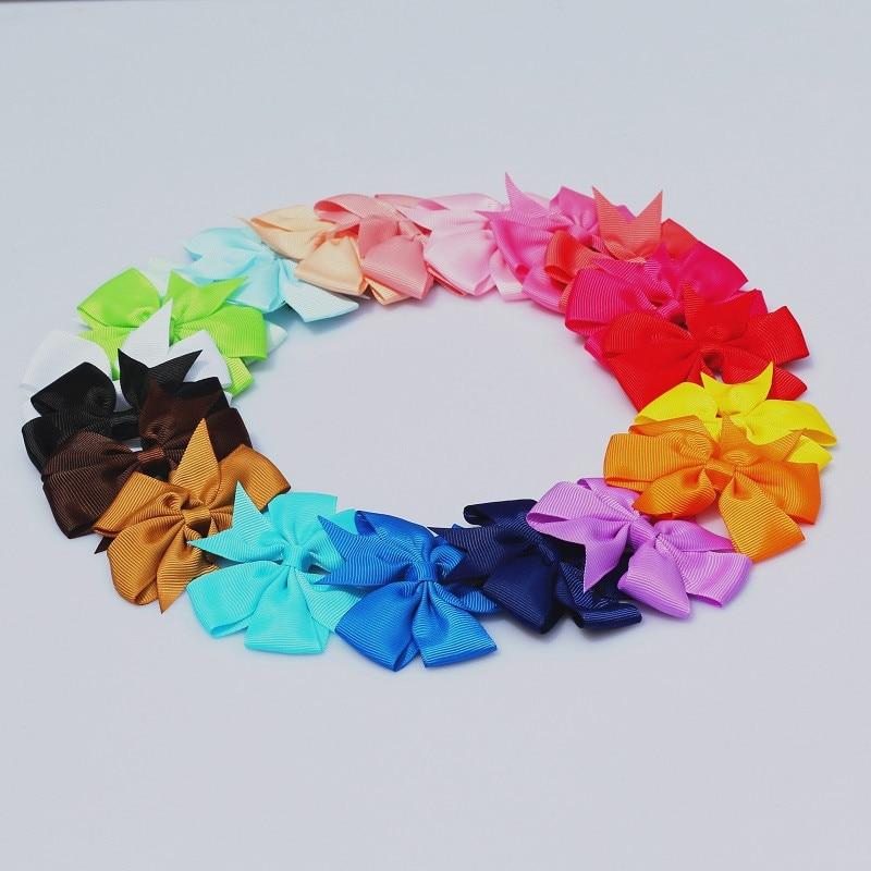 MISM 20 PCS/1lot Kids Girls Lovely Bow Tie Headband Multicolor Hairpins Set Children Hair Accessories Clips kids Ribbon Headwear