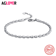 925 Sterling Silver Top Quality Sparkling Bangle Bracelet Fit Women Bead Charm Bangle Bracelets Jewelry цена и фото